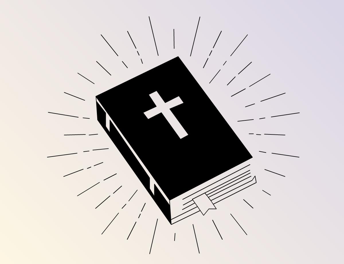 Illustration book bible berses