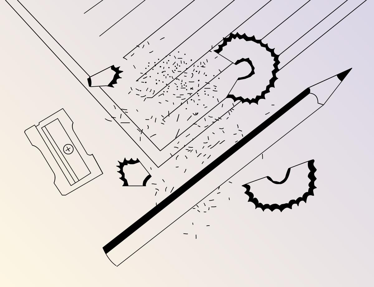 Illustration hand write in a wedding card